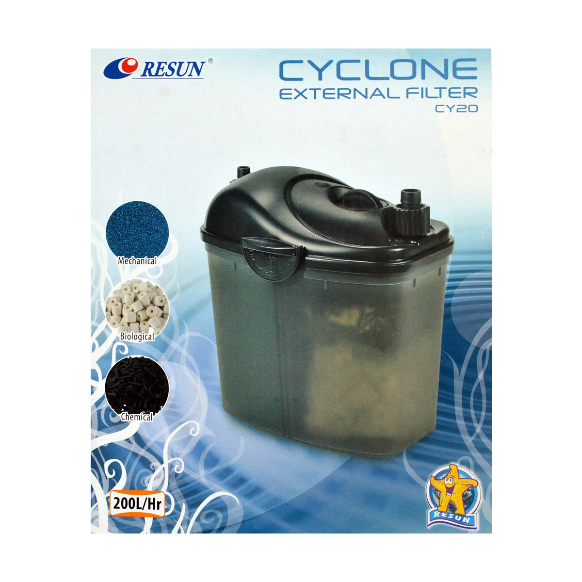 ReSun CY20 Cyclone Small Size External Canister Filter 3W 200L/H