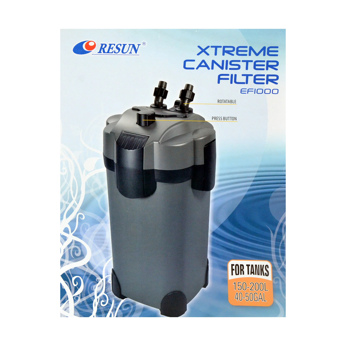 ReSun EF1000 Xtreme Canister Filter 19W 1000L/H 150-200L