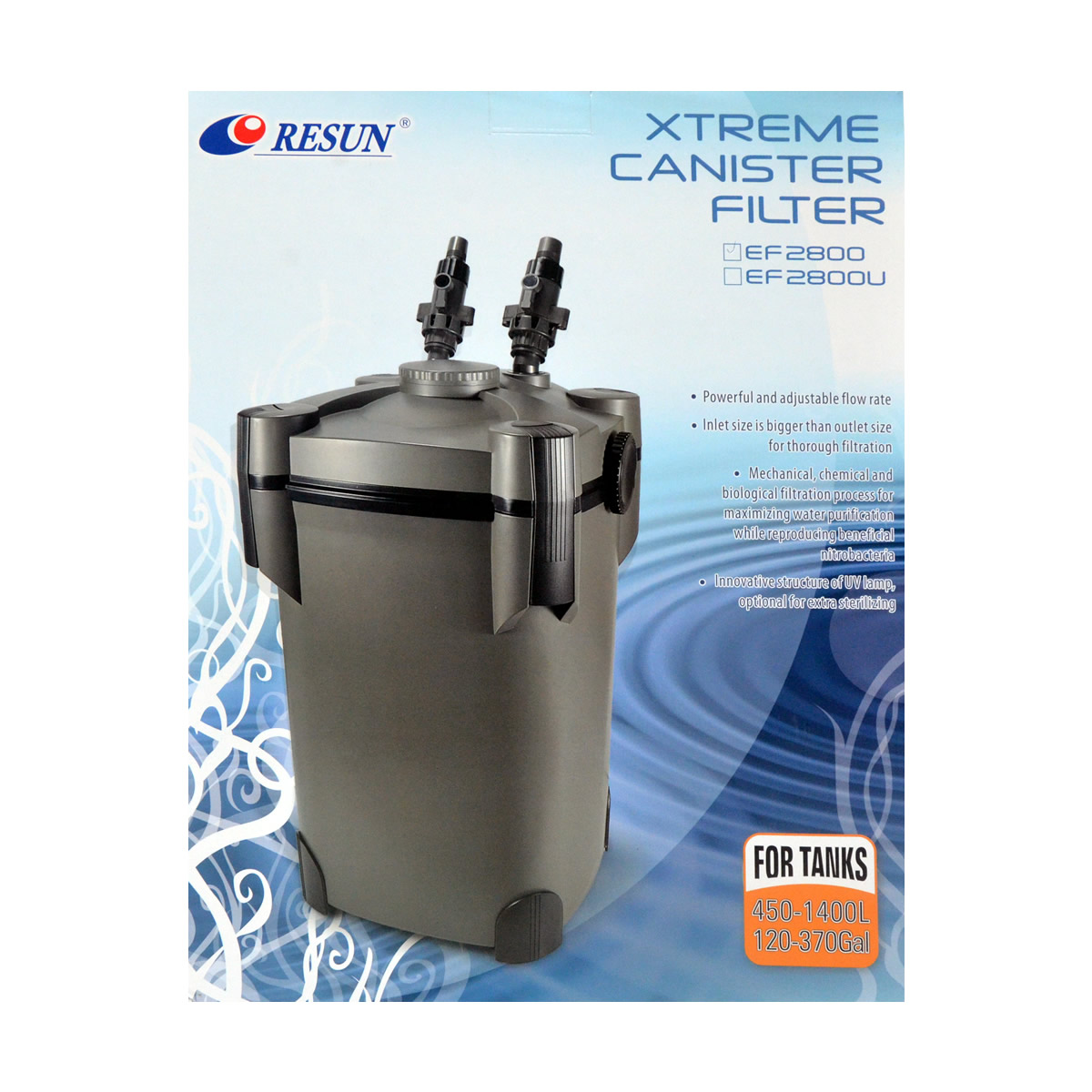 ReSun EF2800 Xtreme Canister Filter 60W 2800L/H 300~1000L
