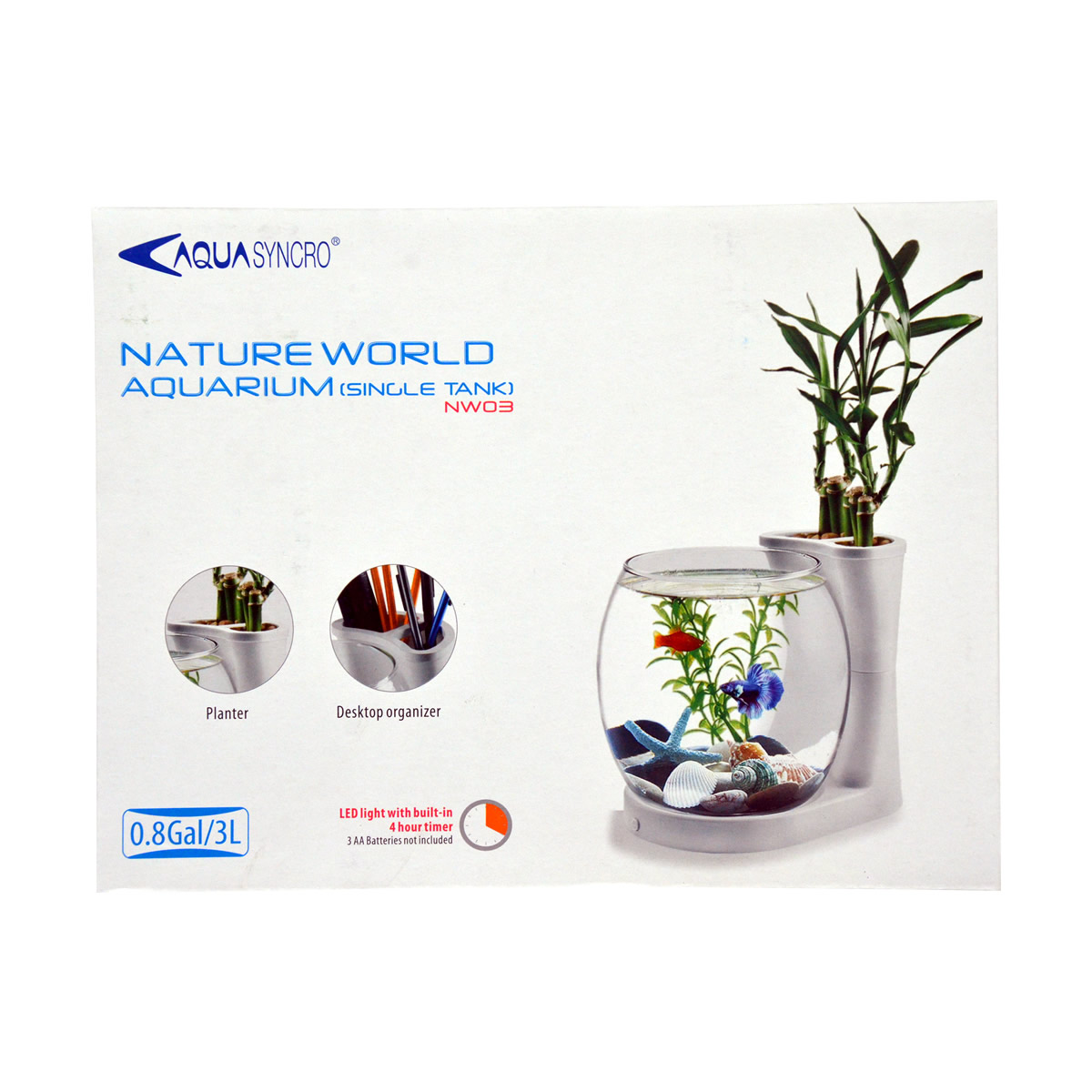 ReSun NW03 Mini / Nano Nature World Aquarium 3L