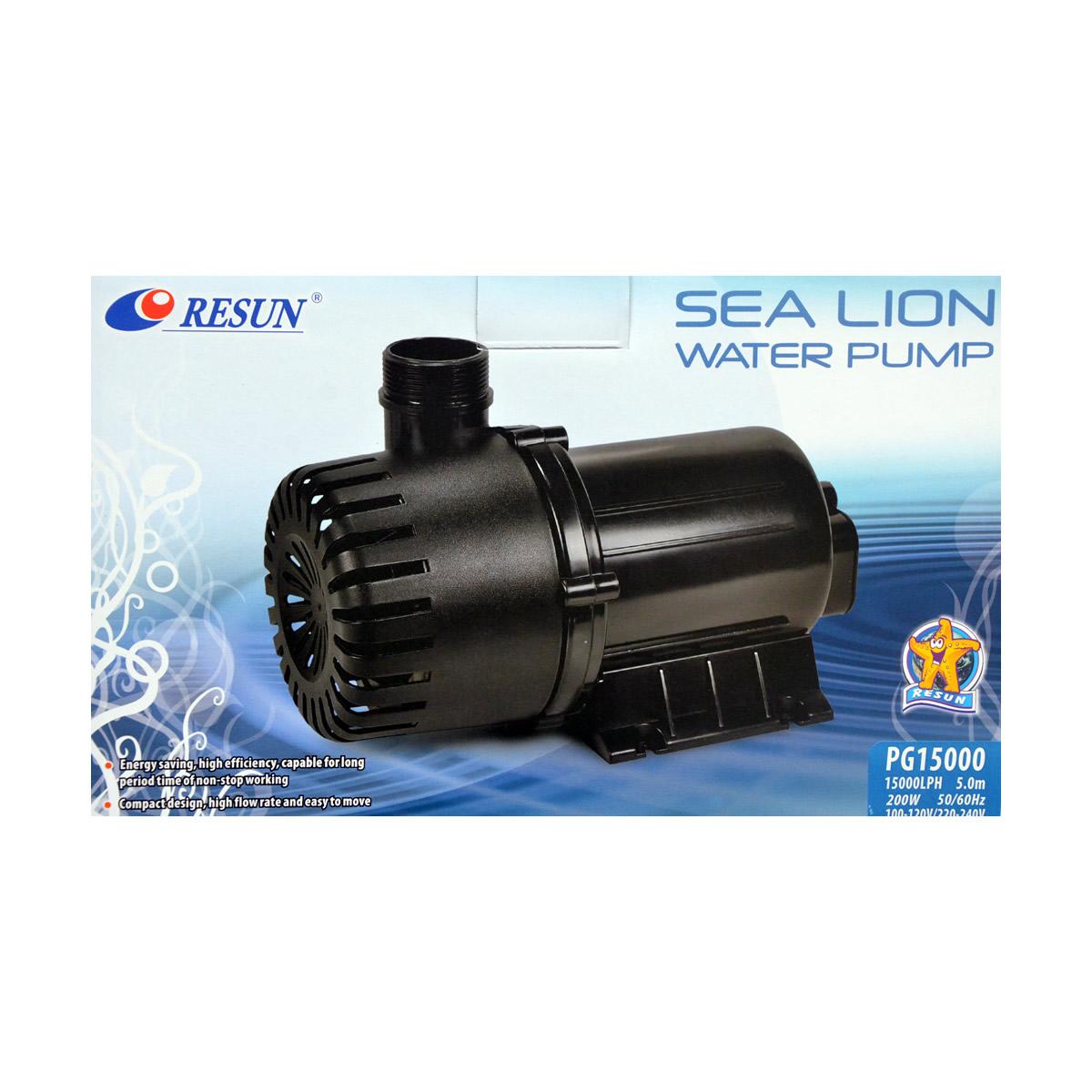 ReSun PG15000 Sea Lion Pond Circulation Water Pump 200W 15000L/H