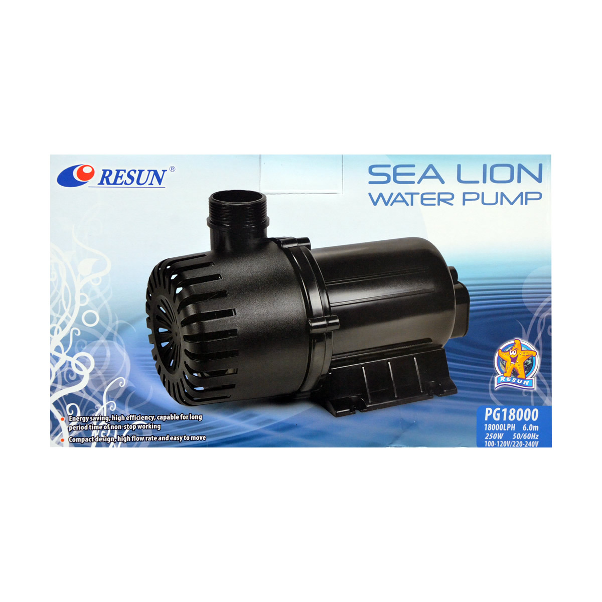 ReSun PG18000 Sea Lion Pond Circulation Water Pump 250W 18000L/H