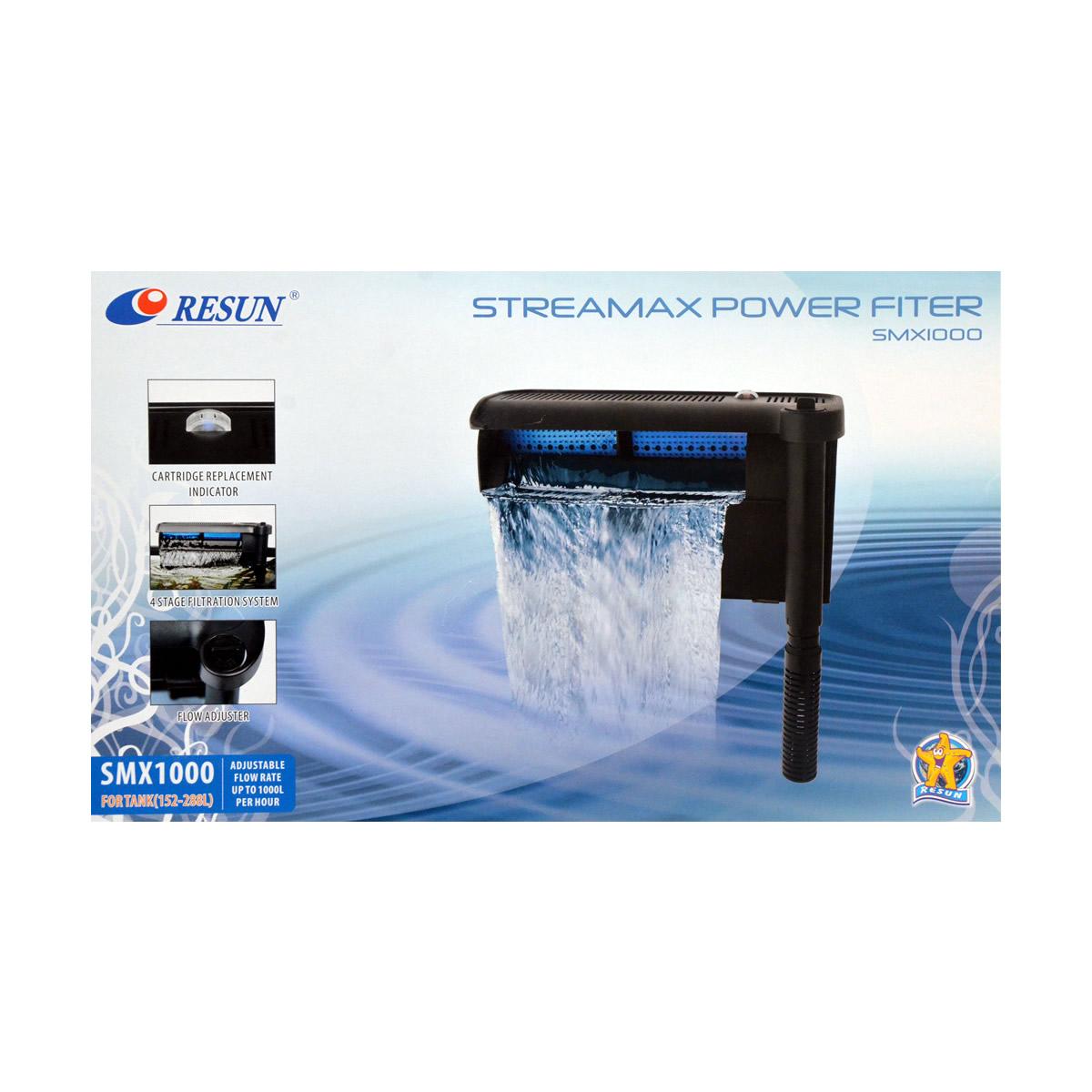 ReSun SMX1000 Streamax Hang On Power Filter 7W 1000L/H 152-288L