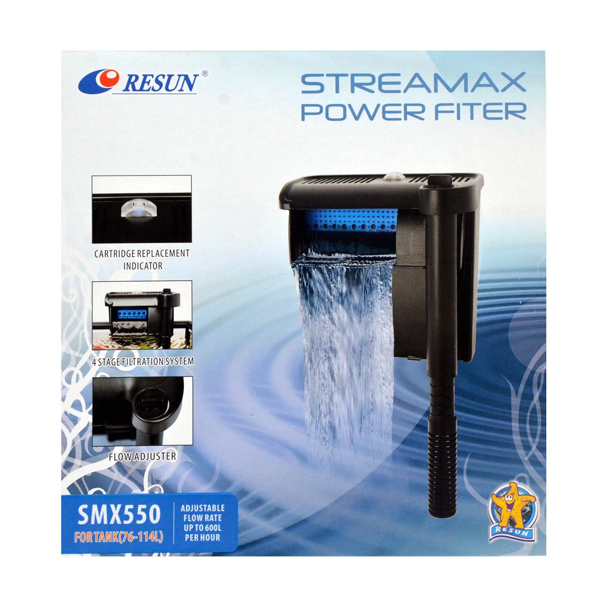 ReSun SMX550 Streamax Hang On Power Filter 6.5W 600L/H 76-114L