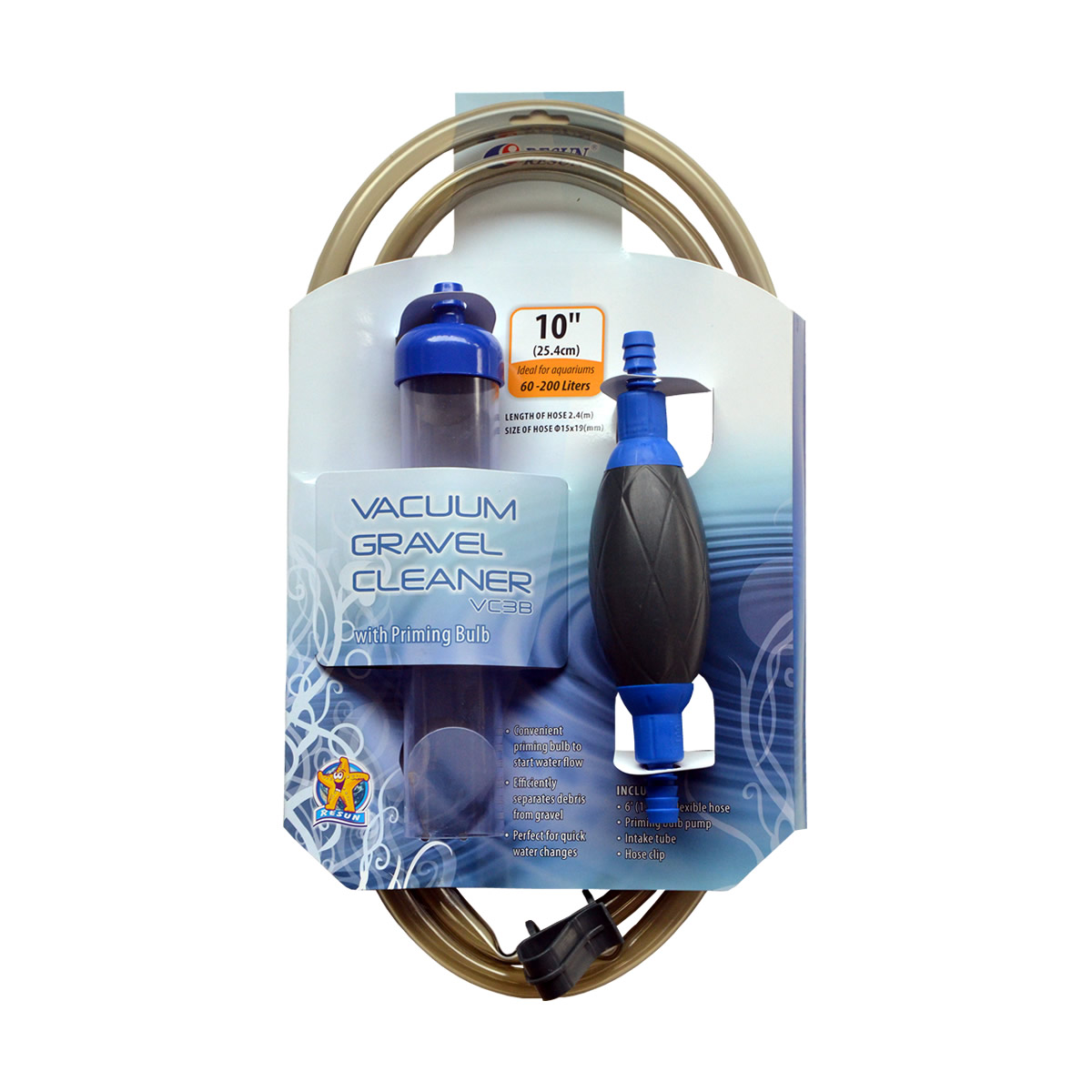 ReSun VC-3B Siphon Vacuum Gravel Cleaner With Hose Clip