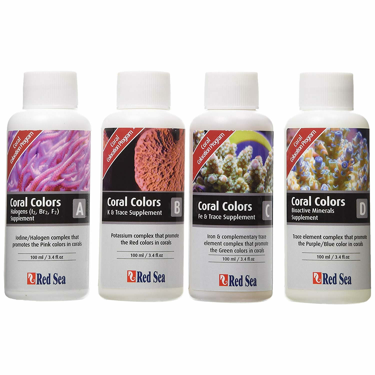 Red Sea Coral Colors ABCD 100ml each