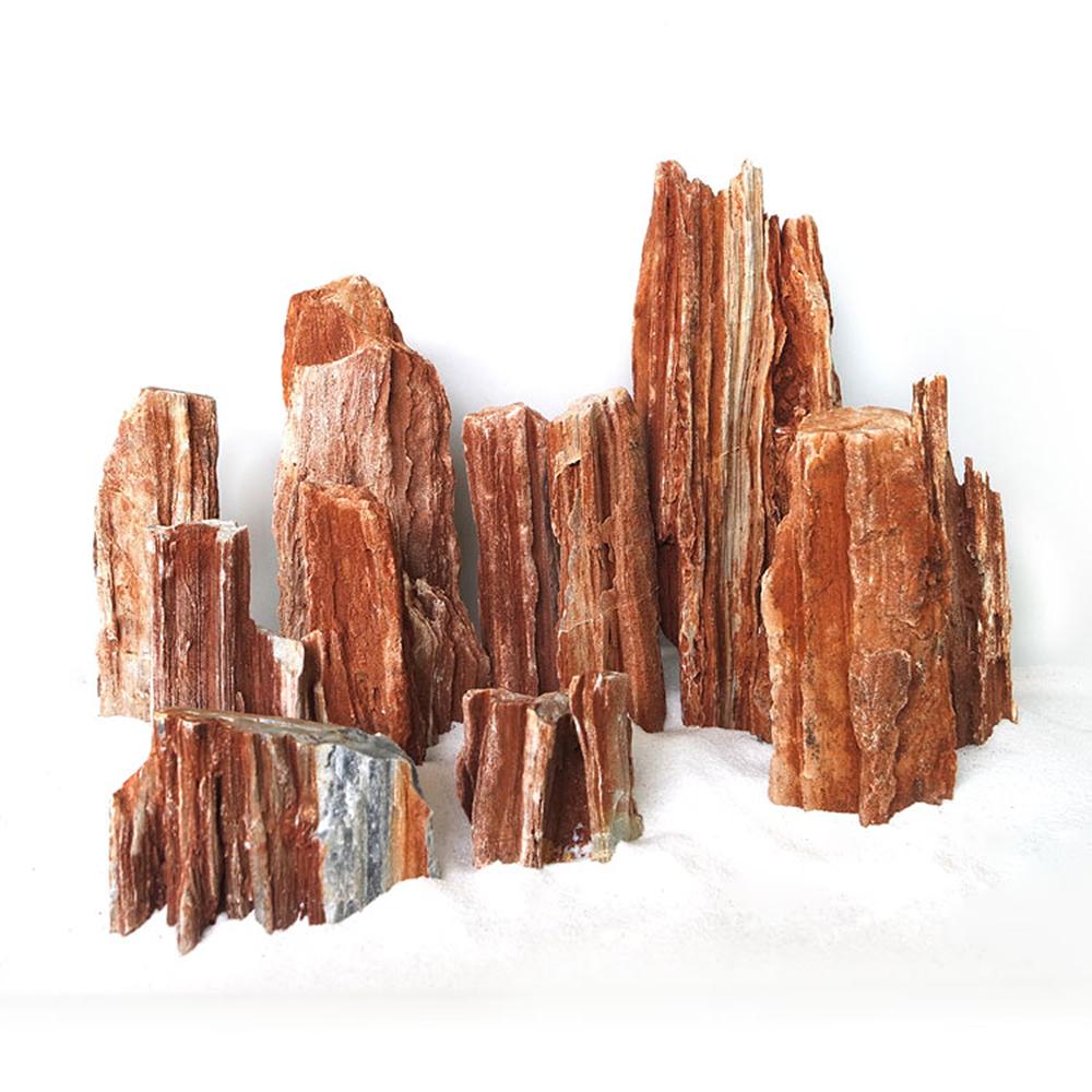 Aquarium Hardscape Material Red Wood Lines Stone 10kg